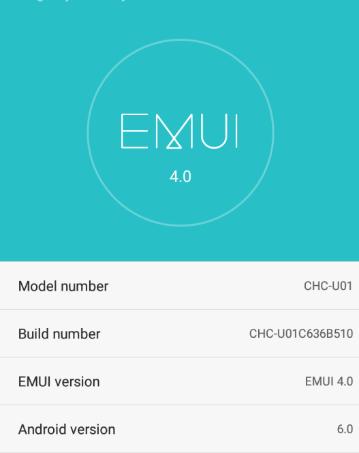 Download EMUI 4.0 Huawei G Play Mini CHC-U01C636B510 Marshmallow Firmware Asia pacific