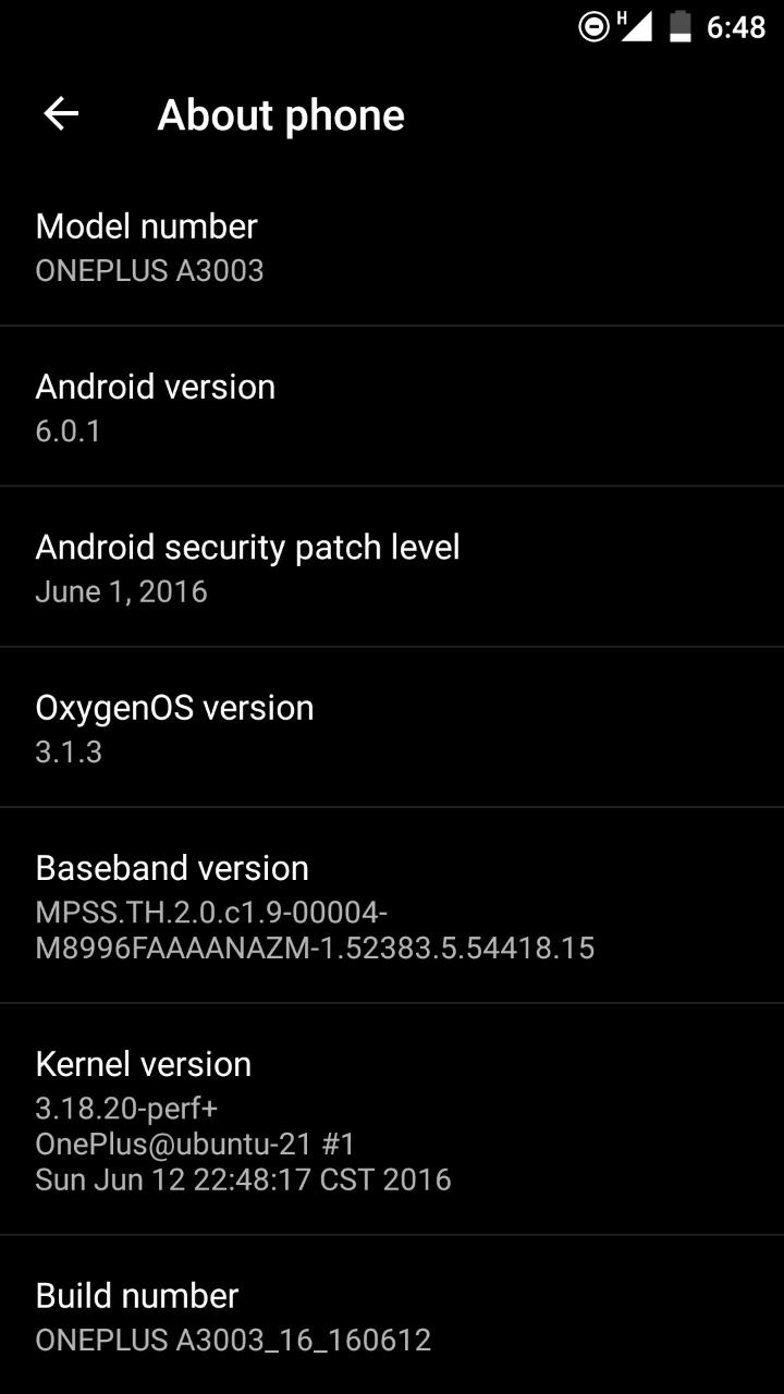 Download Oxygen OS 3.1.3 for OnePlus 3 OTA Updates screenshot