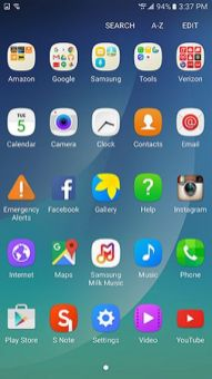Verizon Note5 Android 6.0.1 Marshmallow Update App Tray