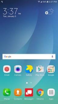Verizon Note5 Android 6.0.1 Marshmallow Update Homescreen