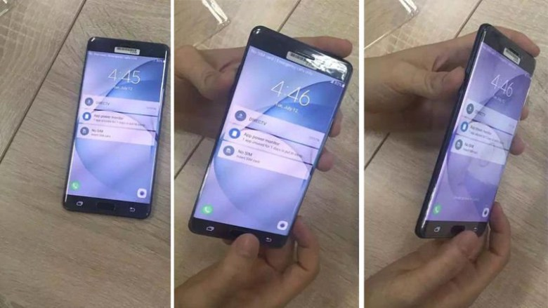 note7hands on leaked image