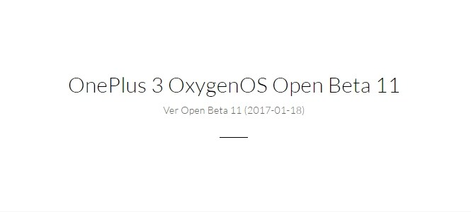 Download and Install Open Beta 11 and Beta 2 for OnePlus 3 and 3T