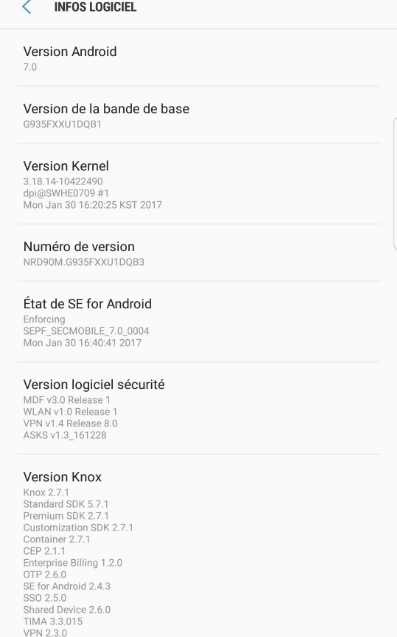 New firmware Galaxy s7 edge BTU Nougat G935FXXU1DQB3 98MB fix bug 2017 02 07 11.47.26