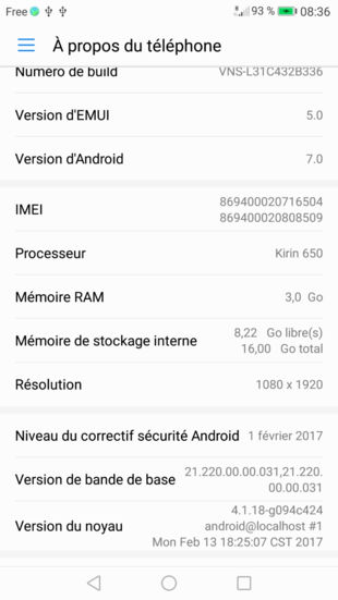 Download Huawei P9 lite EMUI 5.0 Nougat update