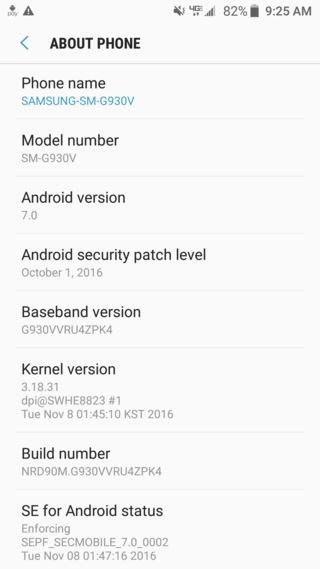 Download Verizon Galaxy S7 Edge Nougat OTA update G930V-G935V how to install