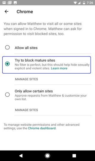 blocks adult content on Chrome