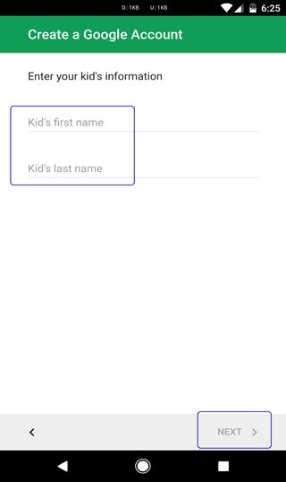 kids account
