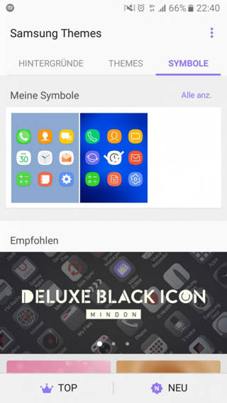 samsung s8 theme and icon pack