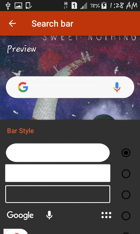search bar style