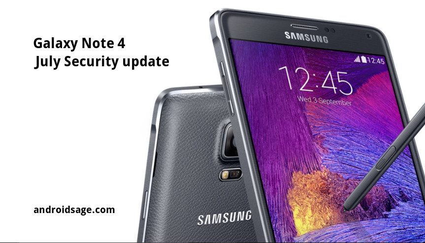 Samsung Galaxy Note 4 How to install July 2017 Security update N910FXXS1DQG5