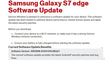 Download Verizon Galaxy S7 (Edge) Nougat OTA update G930V