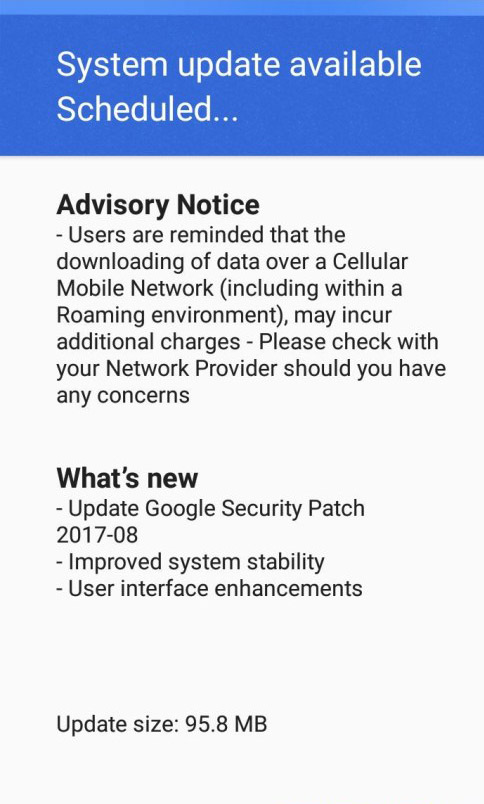 OTA Update for Nokia 3