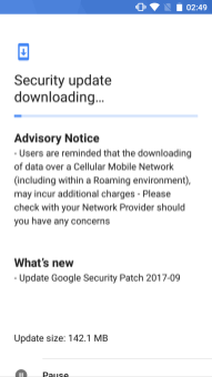 Nokia5_September2017_OTA 2017 security patch for Nokia 5