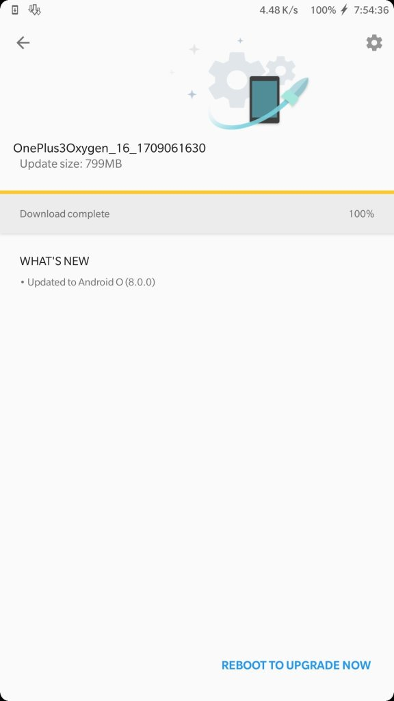 OnePlus 3-3T Android 8.0 Oreo Oxygen OS closed beta screenshot