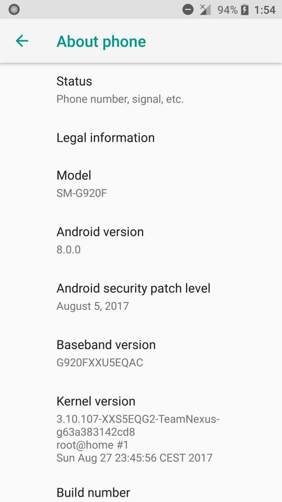 8.0 Oreo for Galaxy S6