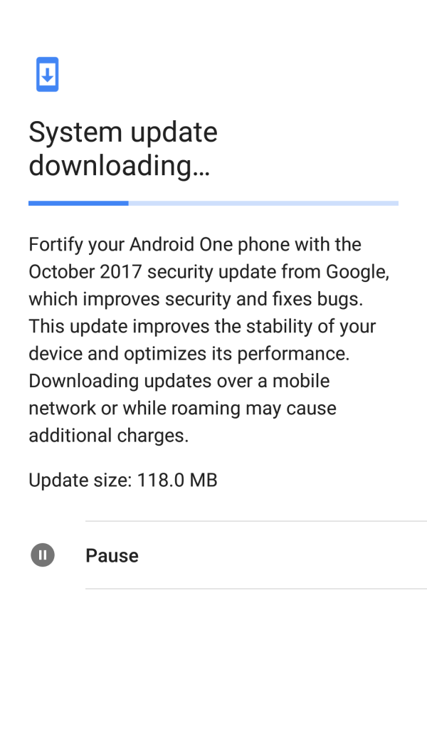 October 2017 security patch for Mi A1
