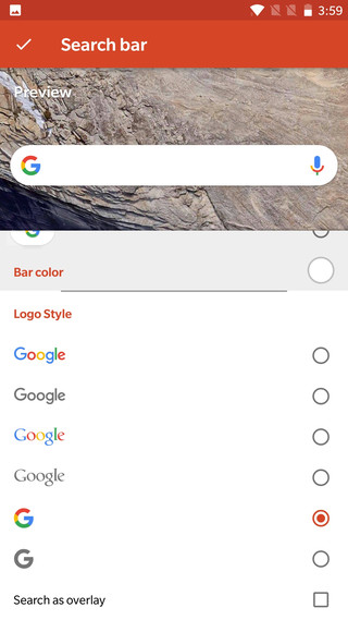 Pixel 2 Launcher's new Google Search Widget customize