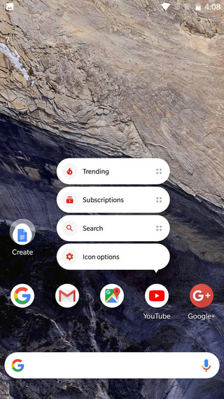 Remove name from icons pixel 2