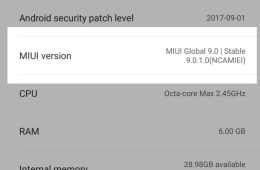 MIUI 9 Global ROM for Mi Max 2 and Mi 6