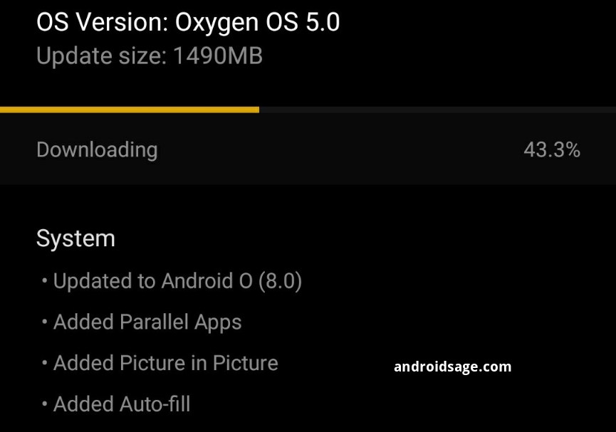 download and install OxygenOS 5.0 for oneplus 3 and 3t OTA
