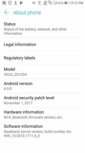 Zenfone 3 oreo update download