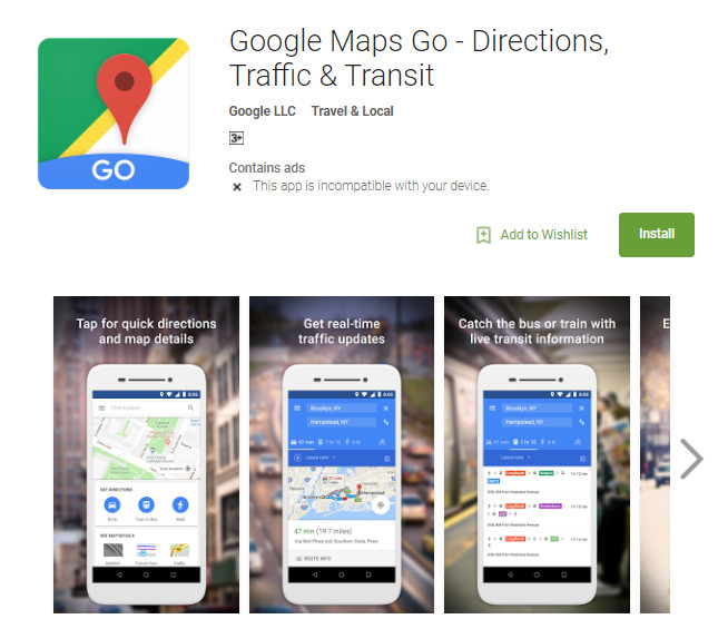 Google Maps Go - Directions, Traffic & Transit APK download