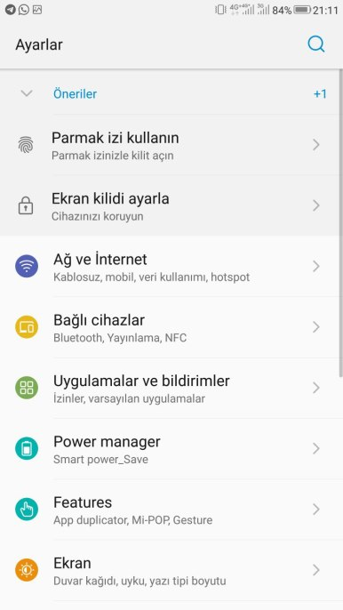 ZTE Azon 7 MiFavor UI 5.2 Android 8.0 Oreo 0B11 screenshot settings