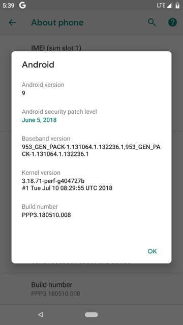 Android P 9.0 GSI