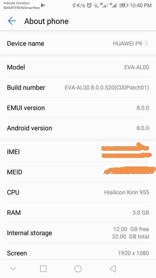 Download Hauwei P9 P9 Plus oreo update EMUI 8.0 screenshots