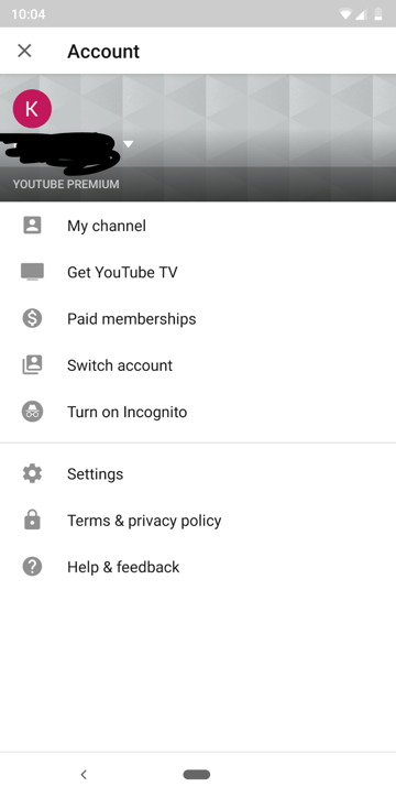 YouTube APK Update with Incognito Mode