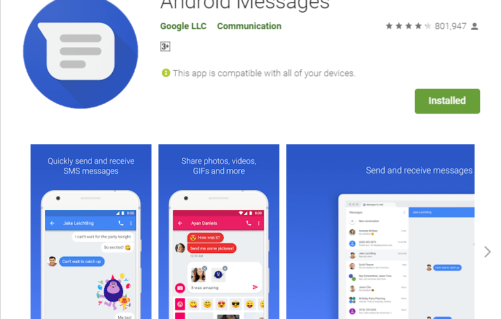 Android Messages Apps on Google Play APK Download min