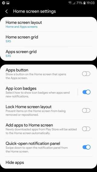 Latest One UI Home Launcher 3