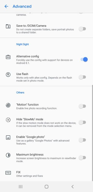 Snapdragon Samsung Gcam settings (5)