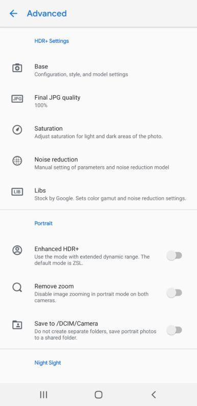Snapdragon Samsung Gcam settings (6)