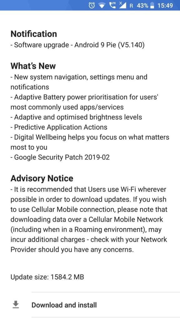 Nokia 8 receive official Android 9.0 Pie OTA update V5.140-min