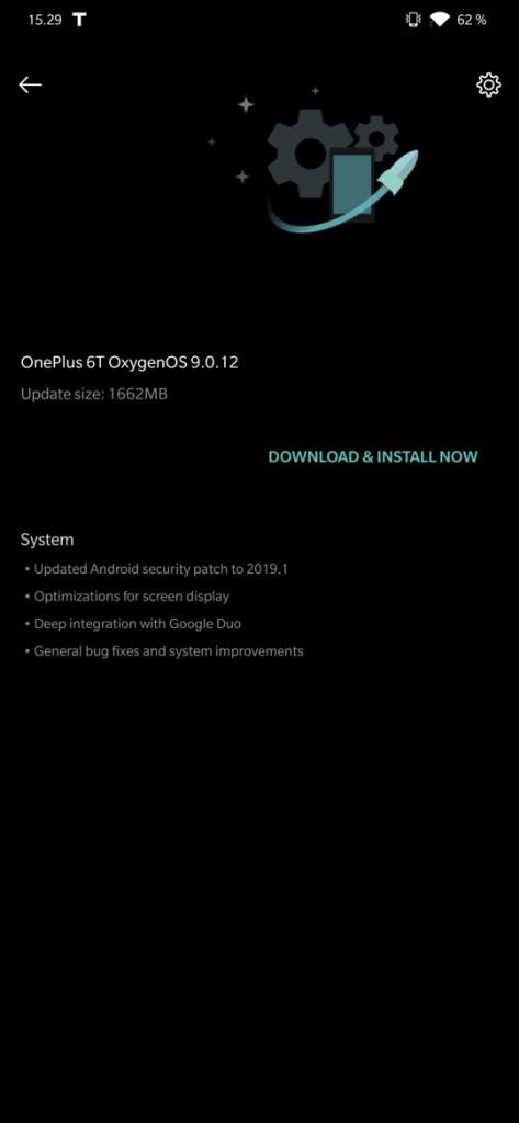 Oxygen OS 9.0.4 for OnePlus 6 and Oxygen OS 9.0.12 for OnePlus 6T