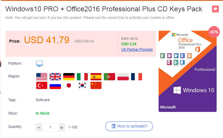 windows 10 pro key at low price
