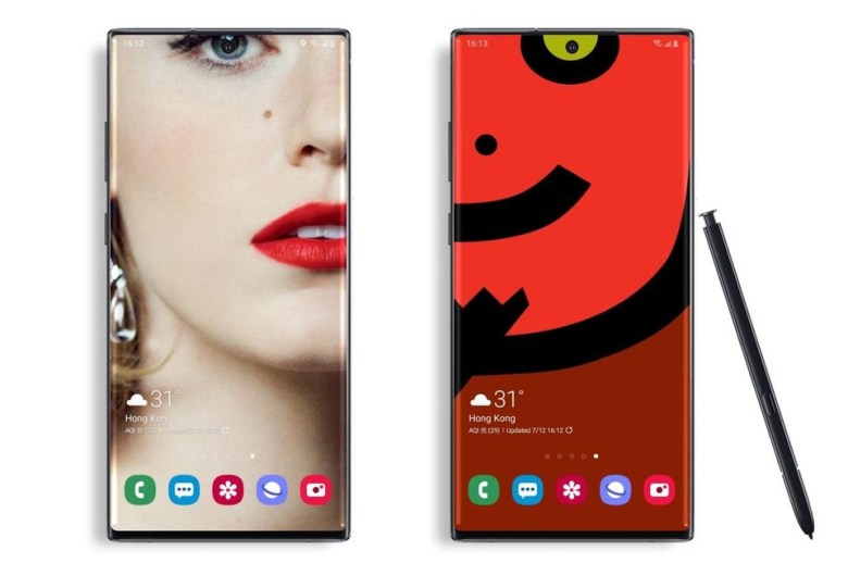 Download Punch-Hole Camera Cutout Wallpapers for Samsung Note 10 and Note 10 Plus