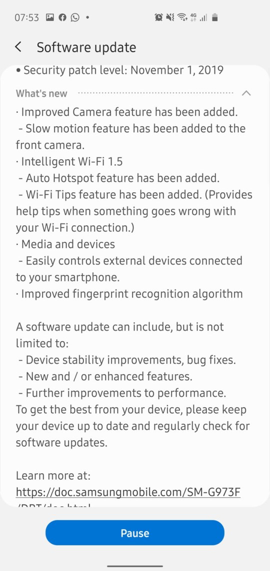 Android 10 Beta 2 changelog for Exynos Galaxy S10 Plus One UI 2.0 beta 2