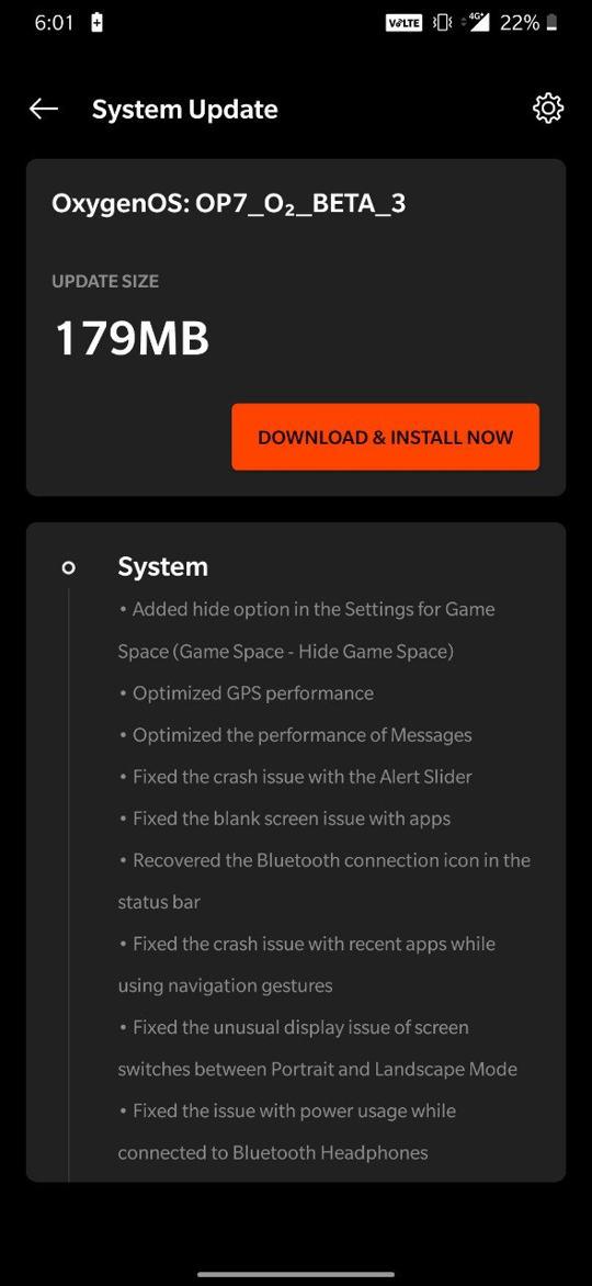 Open Beta 3 for OnePlus 7