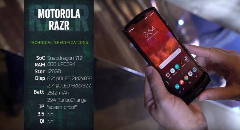 Motorola Razr 2019 Folding Phone specifications
