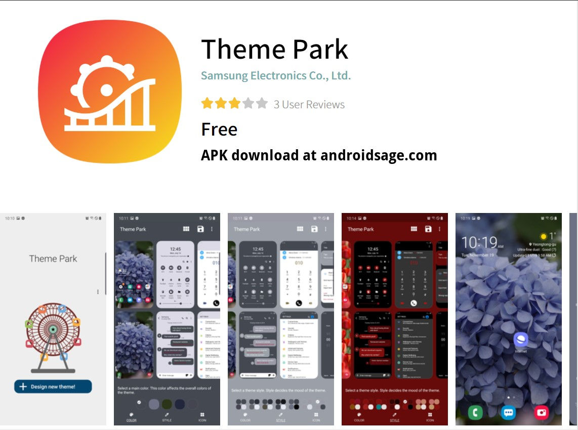 Samsung Theme Park APK Download Create your own theme on any ...