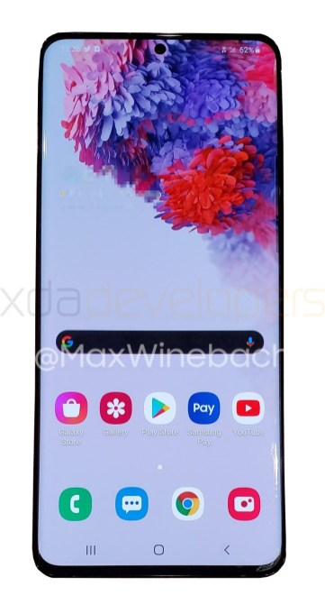 Samsung Galaxy S20 plus 5G front