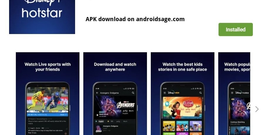 Download and Install Disney Hotstar APK min