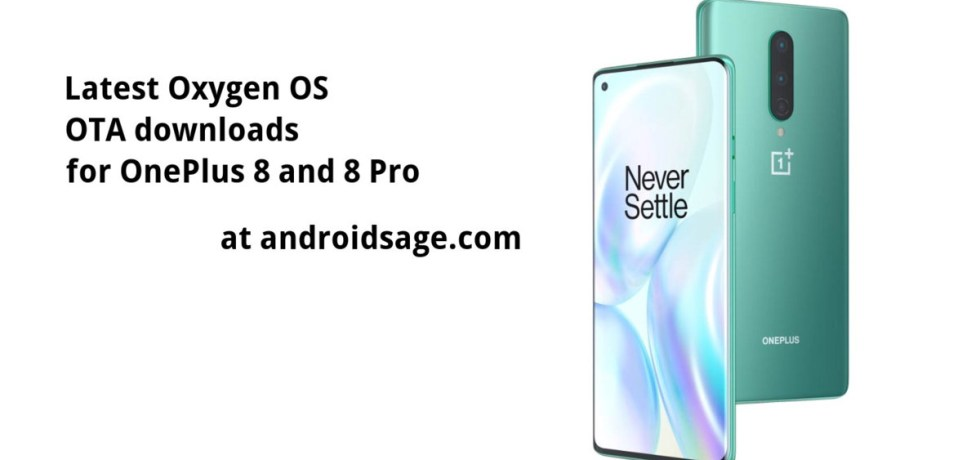 Download latest OTA Updates for Oneplus 8 and 8 Pro