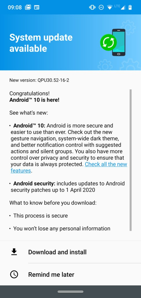 Moto G7 series Android 10 OTA update