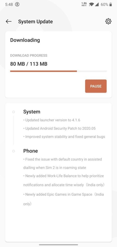 Oxygen OS 10.3.4 for OnePlus 6 and 6T OTA downloads