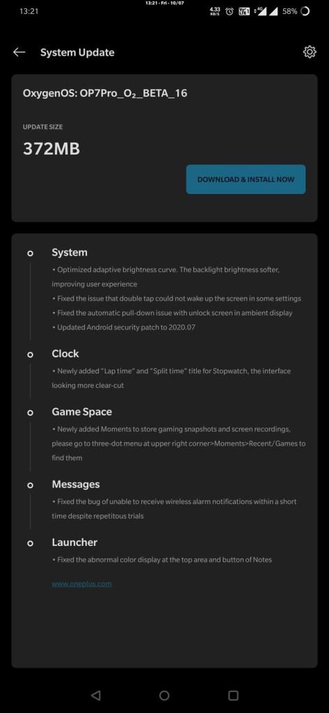Oneplus 7 Pro Open Beta 16