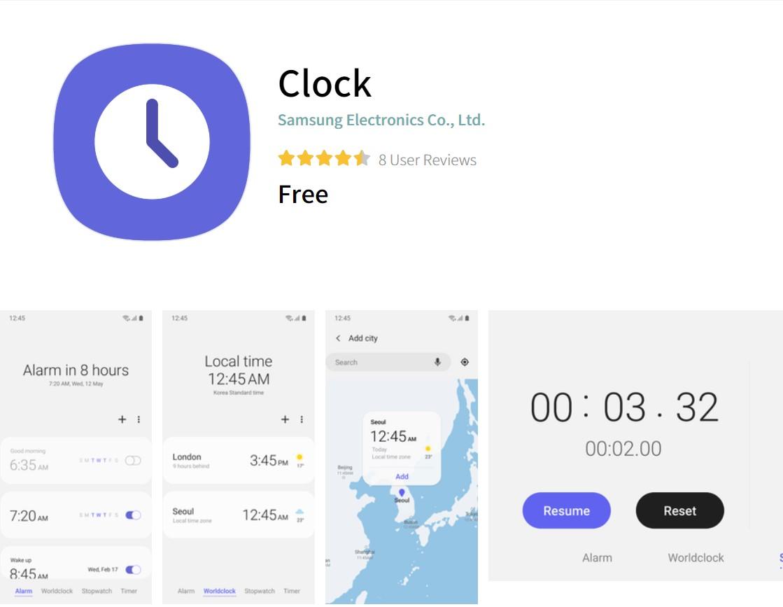 Samsung Clock Spotify Music Alarm sound feature - Galaxy Store