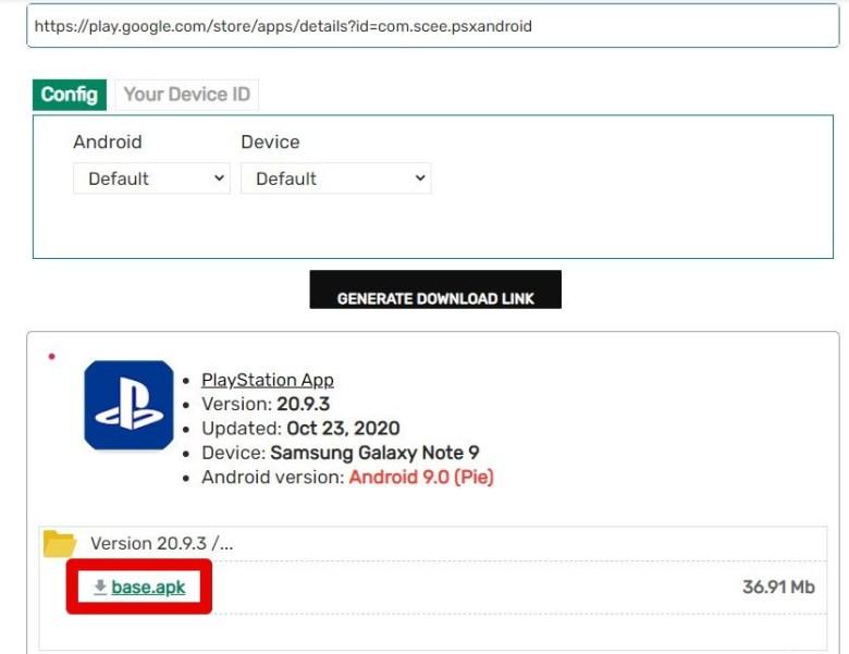 Latest PlayStation APK Downloader